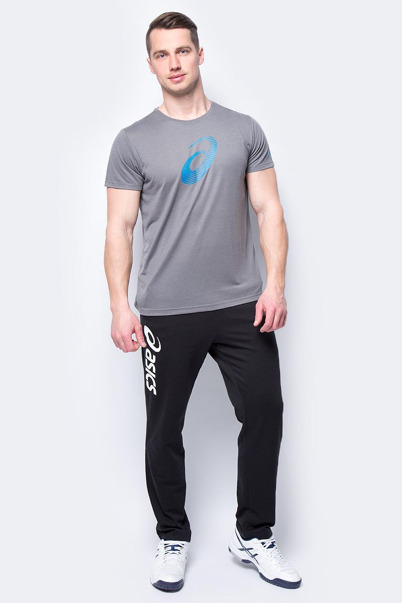 Футболка мужская Asics GPX SS Top, цвет: серый. 155241-0720. Размер L (48)155241-0720Мужская футболка Asics GPX SS Top выполнена из высококачественного материала. Модель с короткими рукавами оформлена принтом в виде логотипа бренда.