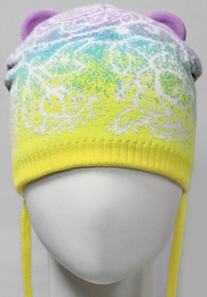 Шапка для девочки Marhatter, цвет: желтый. MGH7359/5. Размер 52/54MGH7359/5Шапка Marhatter на завязках изготовлена из хлопка на хлопковой подкладке. Модель с ушками и флоральным узором. Уважаемые клиенты!Размер, доступный для заказа, является обхватом головы.