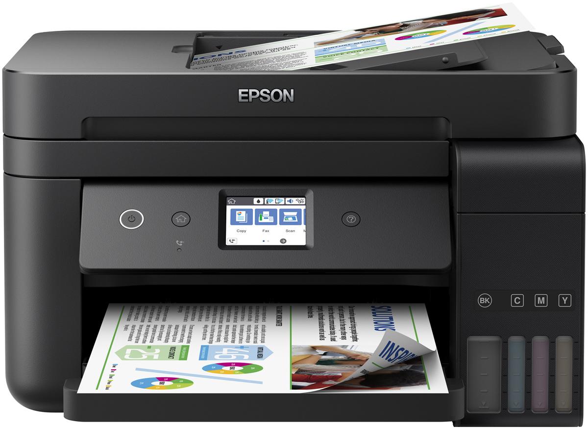 Epson L6190 МФУC11CG19404Epson L6190 – это устройство серии «Фабрика печати Epson». Данное МФУ отвечает всем требованиям современных бизнес-пользователей за счёт широкого функционала, уникального дизайна и усовершенствованной системы заправки.Особенность всех устройств серии «Фабрика печати Epson» – это печать без картриджей. Вместо картриджей в Epson L6190 использует фронтальные чернильные емкости. Фронтальное расположение позволяет проще отслеживать уровень чернил, а также делает устройство более компактным. Так новинка на 30% компактнее аналогичных устройств предыдущего модельного ряда.Объем чернильных контейнеров к МФУ Epson L6190 в 10 раз превышает объем стандартного картриджа и вмещает 70 мл цветных и 127 мл черных чернил, а стартовый комплект включает в себя двойной набор контейнеров каждого цвета.Инновационная система заправки чернил «Key Lock» Теперь вам не нужно беспокоиться, о том, что вы перепутаете цвета во время заправки чернил. Секрет новой системы заправки заключается в том, что у каждого контейнера уникальная форма носика, подходящая только соответствующему по цвету заправочному отверстию по принципу ключа с замком. Благодаря этому практически невозможно перепутать цвета во время заправки вашего печатающего устройства.Отныне вам не нужно бояться того, что вы испачкаете руки при заправки чернил. Новые контейнеры имеют внутренний клапан, перекрывающий поступление чернил.При установки контейнера в отверстие для заправки клапан автоматически открывается и чернила начинают поступать внутрь печатающего устройства. Как только вы вынимаете контейнер из заправочного отверстия - клапан автоматически закрывается и чернила остаются внутри, даже если контейнер находится в перевернутом состоянии.МФУ Epson L6190 рассчитано на достаточно высокие нагрузки печати, по этому, по запросам от наших пользователей, мы оснастили его сменной емкостью для отработанных чернил. Больше не нужно бояться, что емкость переполнится, и устройство придется нести в сервис. Теперь польз
