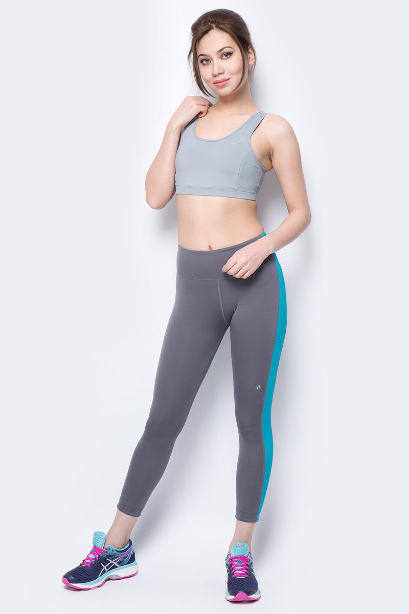 Тайтсы для фитнеса женские Asics Prfm 7/8 Tight, цвет: серый. 155254-0720. Размер XS (42) тайтсы для бега женские asics fuzex 7 8 tight цвет синий 141260 1194 размер xl 50 52