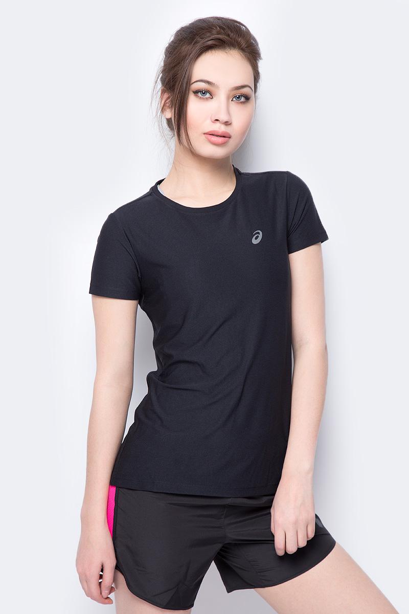 Футболка для бега женская Asics SS Top, цвет: черный. 134104-0905. Размер M (46) футболка element signature ss red