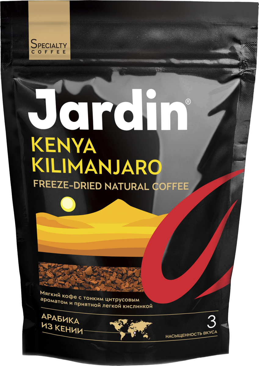 Jardin Kenya Kilimanjaro кофе растворимый, 75 г (м/у)
