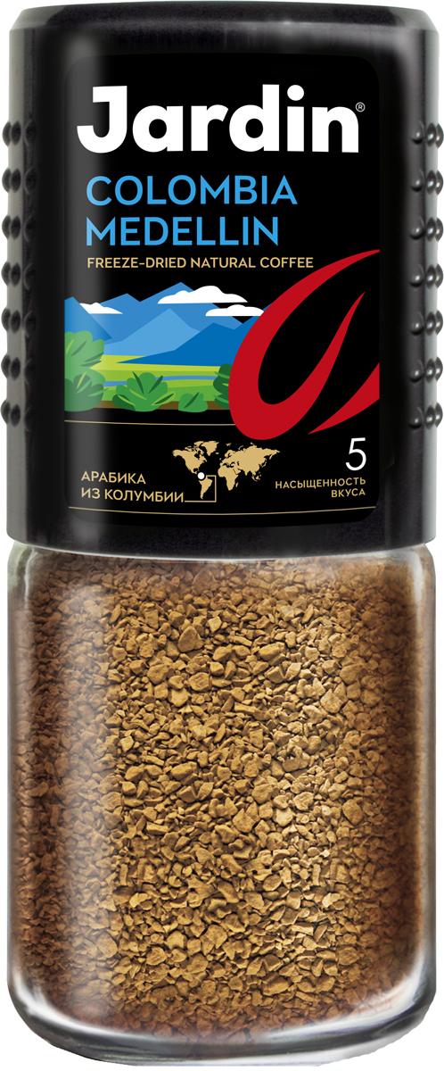 Jardin Colombia Medellin растворимый кофе, 95 г (стеклянная банка)0627-15Jardin Colombia Medellin - крепкий и насыщенный растворимый кофе высшего качества с интенсивным ароматом. Вкус арабики из Колумбии особенно ценится за сочетание цветочных и шоколадных нот.Кофе: мифы и факты. Статья OZON Гид