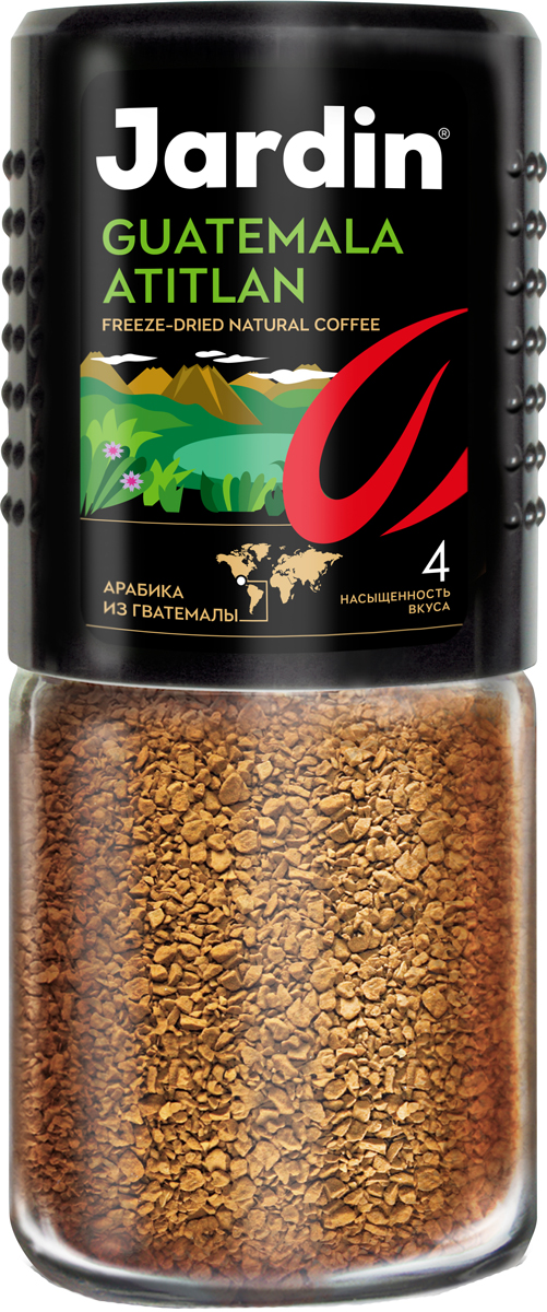 Jardin Guatemala Atitlan растворимый кофе, 95 г (стеклянная банка) guatemala belize 1 500 000