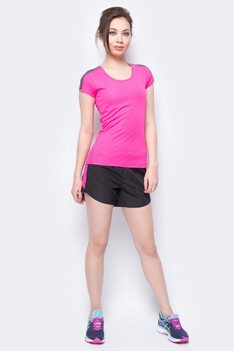 Футболка для бега женская Asics SS Top, цвет: розовый. 154251-0692. Размер M (46)154251-0692Яркая футболка Asics SS Top, изготовленная из высококачественного материала на основе полиэстера, станет лучшим спутником во время бега.Модель приталенного кроя с круглым вырезом горловины имеет комфортные швы, которые не натирают кожу. Материал изделия превосходно отводит влагу от тела и обеспечивает циркуляцию воздуха.