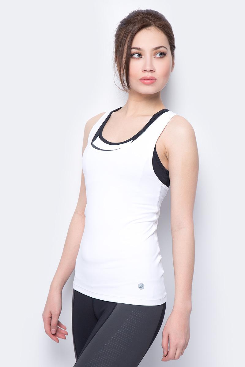 Майка женская Asics Fitted Tank, цвет: белый. 155228-0014. Размер XS (42) футболка asics футболка asics stripe ss top