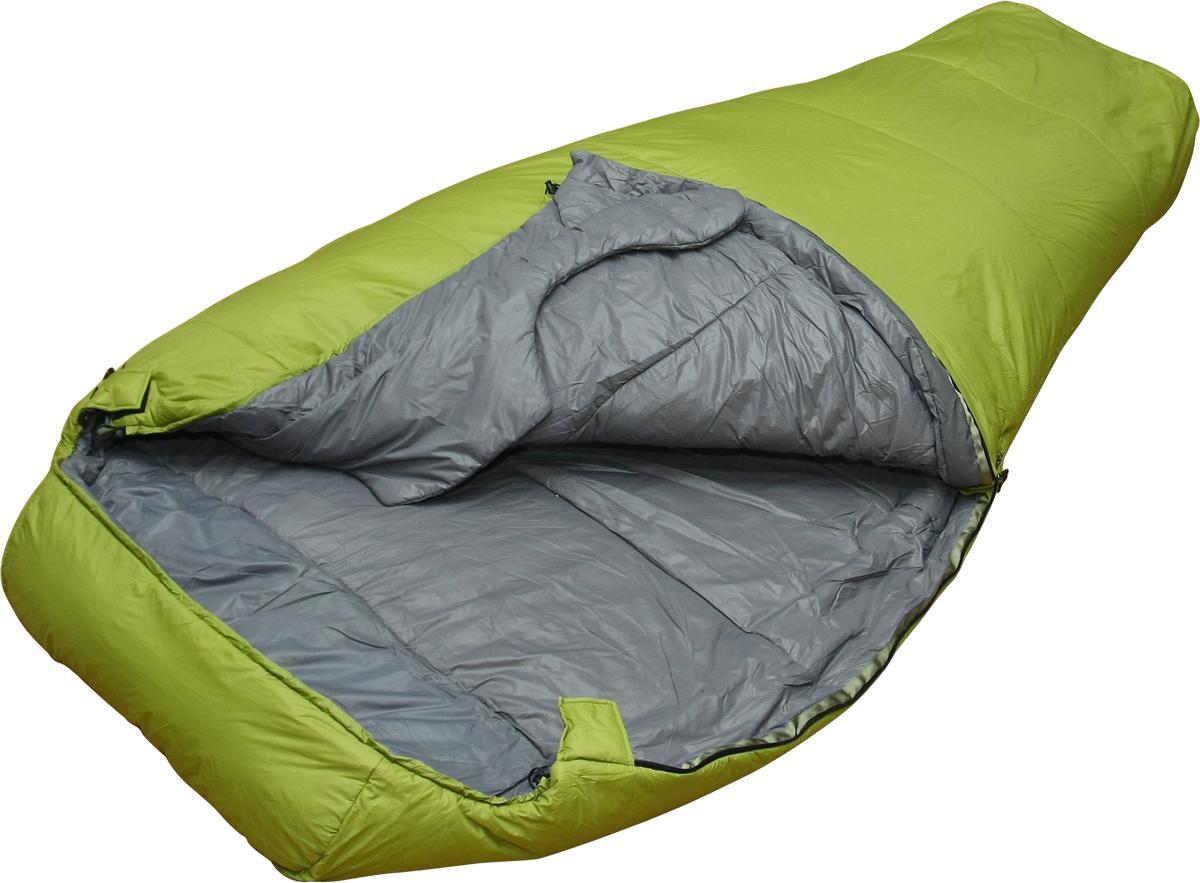 Мешок спальный Сплав Double 310, двухместный, цвет: зеленый, 230 x 120 x 73 см5103950Сплав Double 310 - очень теплый комфортный двухместный спальный мешок.Тип конструкции: кокон.Молнии - разъемные, двухсторонние, двухзамковые, расположены с двух боков спальника.Под головой сквозной карман, для укладки личных вещей в качестве подушки.Шейный пакет специальной формы. Уменьшает задувание между людьми.Утепленная защитная подпланка молнии.Упаковка: компрессионный мешок в комплекте.Внимание! длительное хранение в сжатом виде не рекомендуется.Температура (при двухместном использовании):Комфорт: -2… -9° С.Экстрим: -25° С.Габариты и вес:Размеры: 230 х 120 х 73 см.Размеры в упакованном виде: диаметр 28 х 45 см.Размеры в сжатом виде: диаметр 28 х 28 см.Полный вес: 2,23 кг.Минимальный вес: 2,15 кг.Материалы:Внешняя ткань: Nylon 6.6 R/S 20D Down Proof Hight Density Teflon DWR Cire.Вес ткани: 32 г/м2.Дышимость ткани: 0,8 см3/см2/с.Внутренняя ткань: Nylon 20D/370T Down Proof W/R Cire.Утеплитель: Primaloft Silver.Плотность утеплителя : 3 х 100 г/м2.Количество утеплителя : 1550 г.