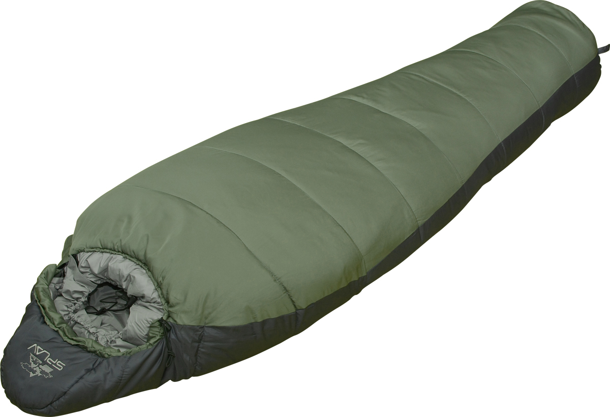 Мешок спальный Сплав Expedition 200, правосторонняя молния, цвет: зеленый, 205 x 75 x 50 см