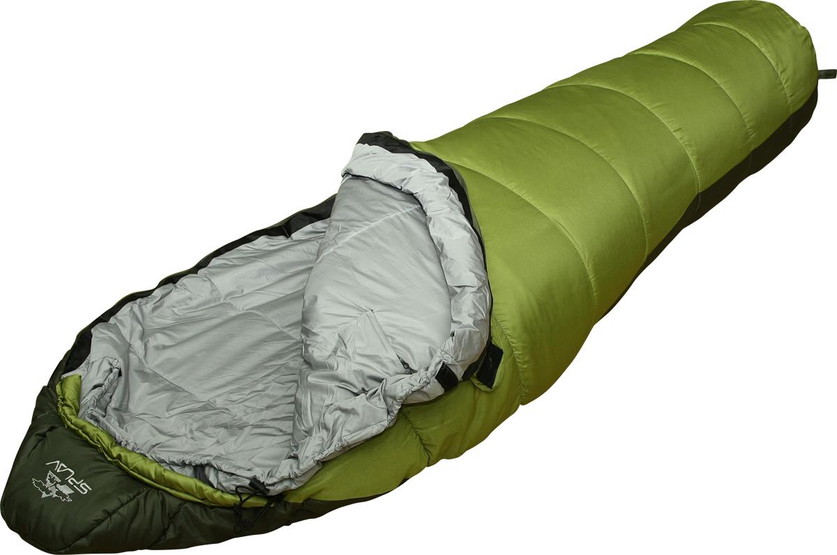 Мешок спальный Сплав Expedition 300, правосторонняя молния, цвет: зеленый, 240 x 85 x 60 см