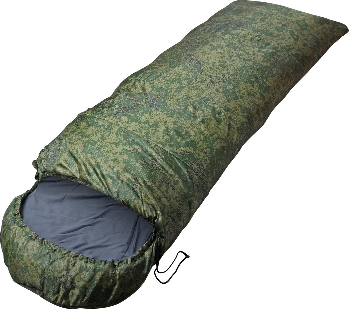 Мешок спальный Сплав Scout 2 K, правосторонняя молния, цвет: зеленый, 190 x 35 x 80 см
