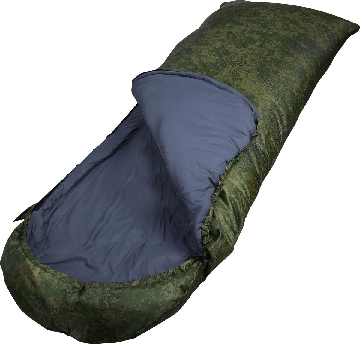 Мешок спальный Сплав Scout 3 K, правосторонняя молния, цвет: цифровая флора, 190 x 35 x 80 см