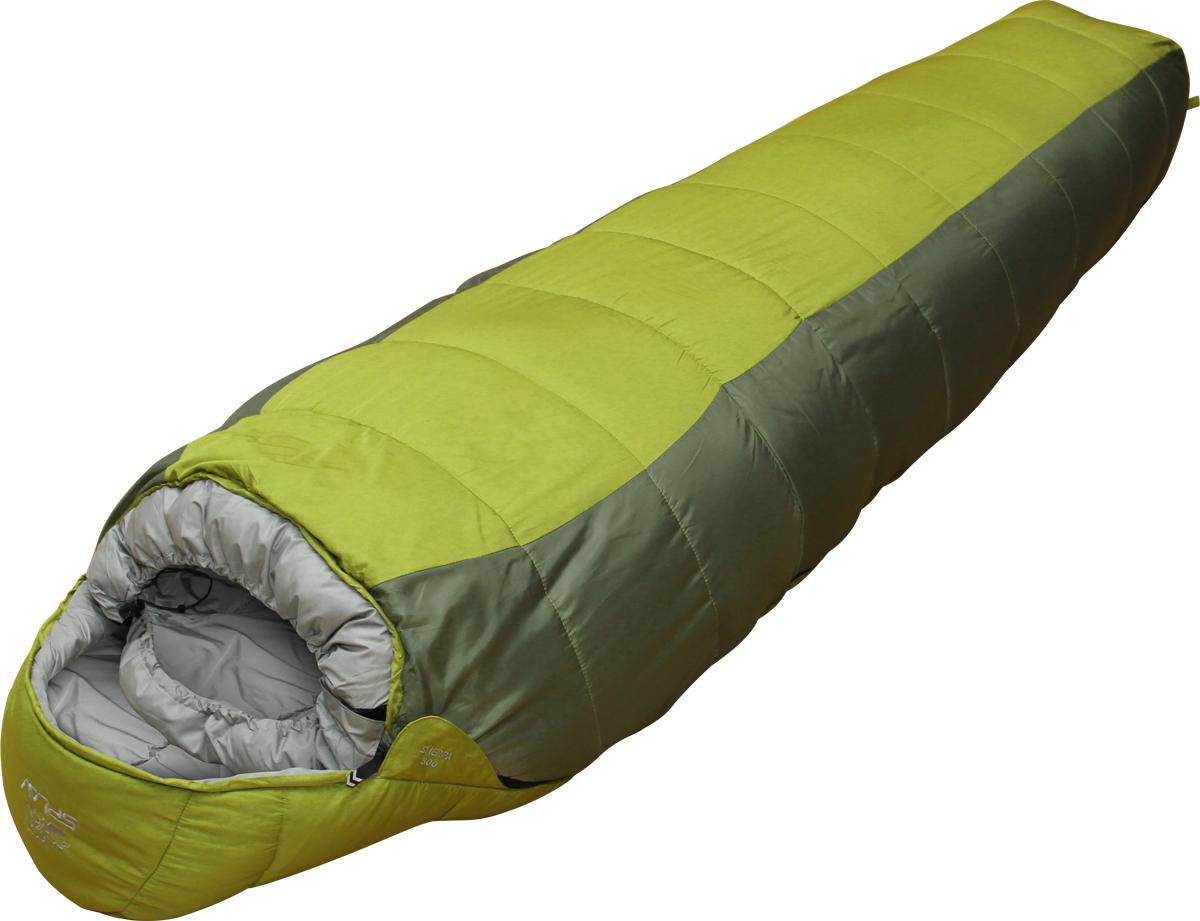 Спальный мешок Сплав Sherpa 400, левосторонняя молния, цвет: зеленый, 240 x 85 x 60 см