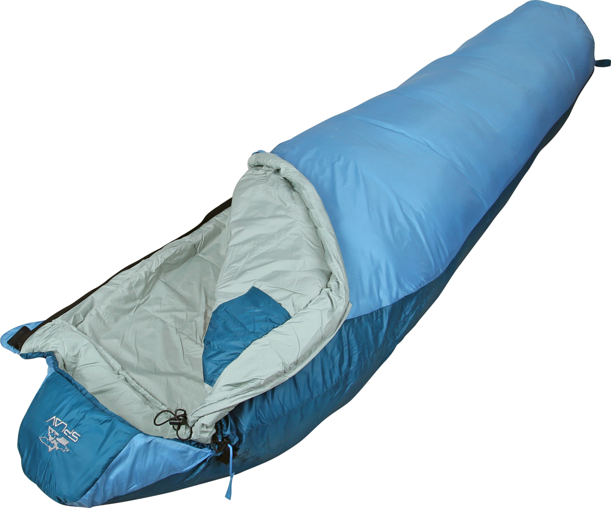 Спальный мешок Сплав  Trial Light 100 , правосторонняя молния, цвет: синий, 205 x 75 x 50 см - Спальные мешки