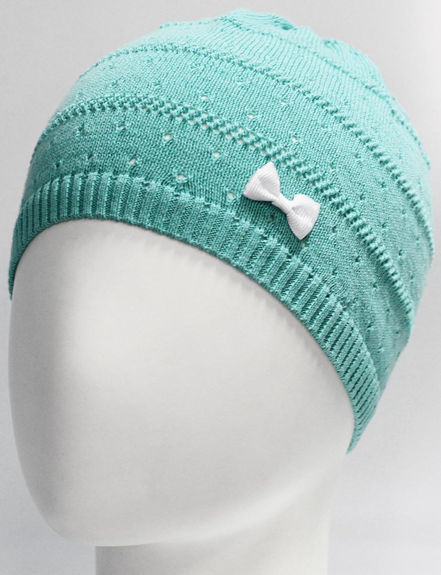 Шапка для девочки Marhatter, цвет: бирюзовый. MGH7270. Размер 52/54MGH7270Детская хлопковая шапка Marhatter для маленьких модниц, украшенная объемным бантом. Модель выполнена фактурной вязкой. Уважаемые клиенты!Размер, доступный для заказа, является обхватом головы.