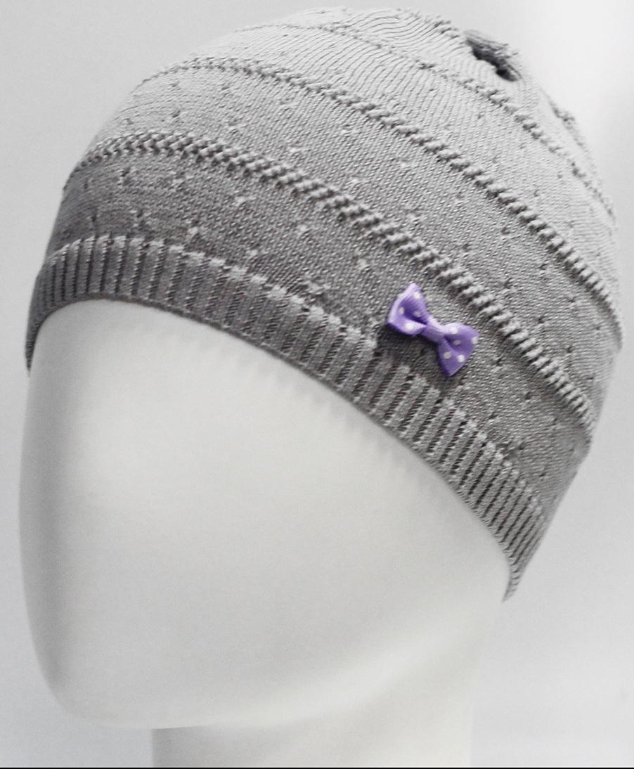 Шапка для девочки Marhatter, цвет: светло-серый. MGH7270. Размер 52/54