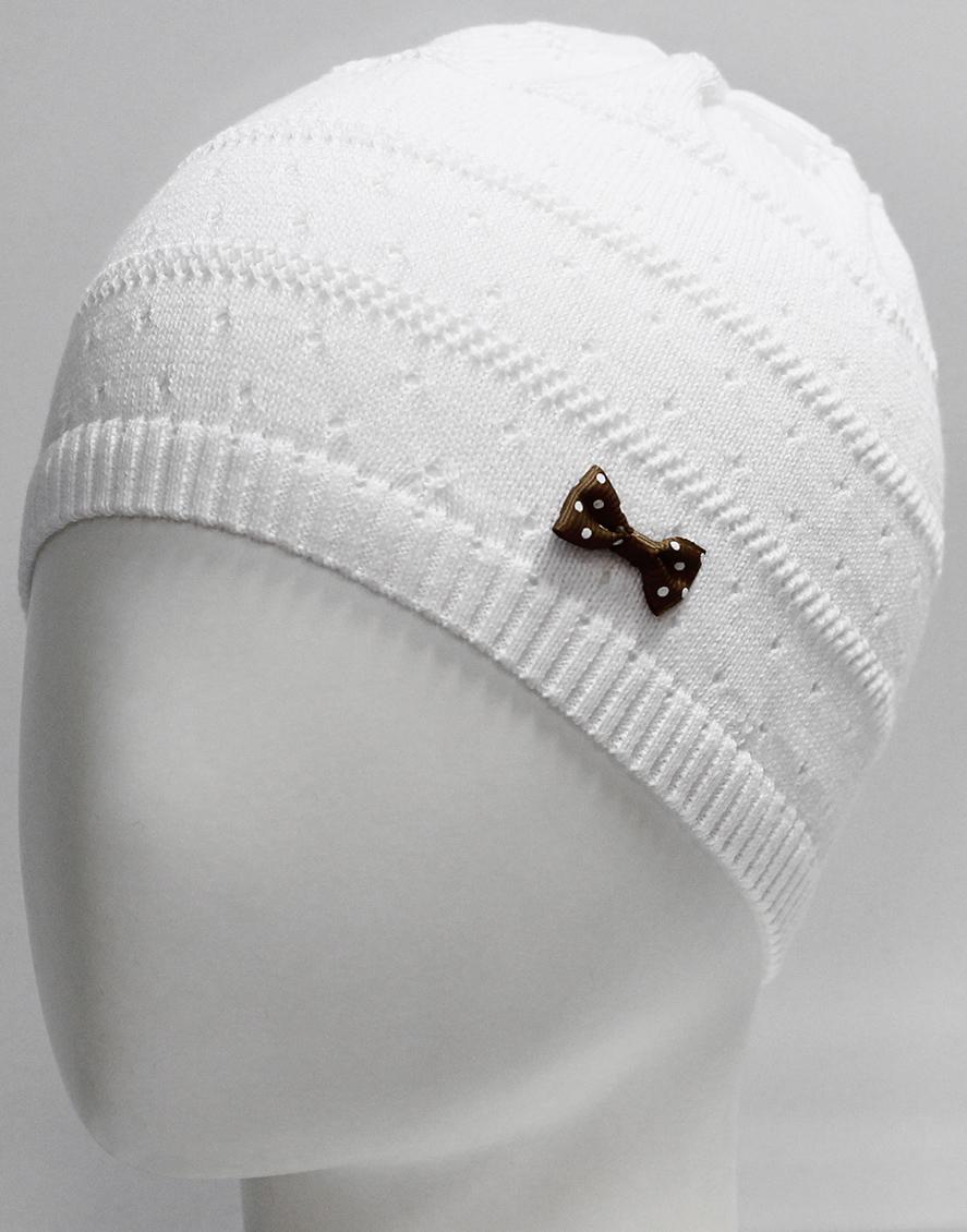 Шапка для девочки Marhatter, цвет: белый. MGH7270. Размер 52/54