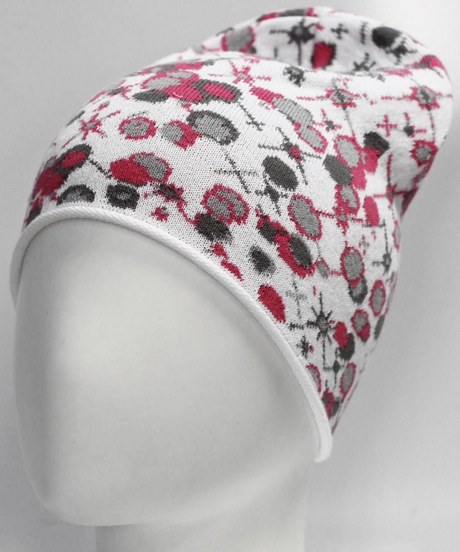 Шапка для девочки Marhatter, цвет: белый. MGH7228. Размер 52/54MGH7228Хлопковая шапка Marhatter с жаккардовым цветочным узором. Отличный вариант для маленьких модниц. Уважаемые клиенты!Размер, доступный для заказа, является обхватом головы.