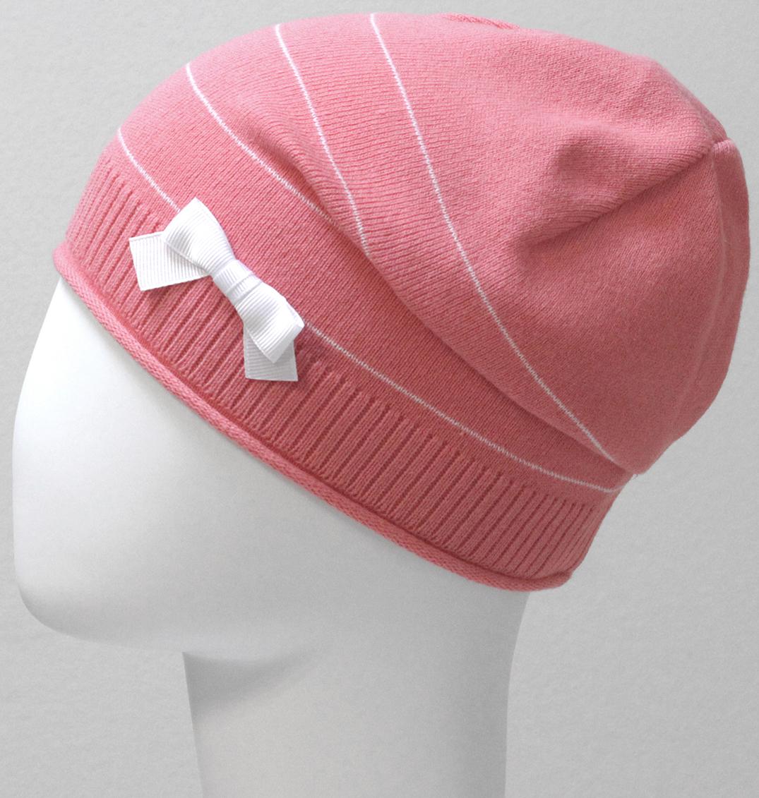 Шапка для девочки Marhatter, цвет: коралловый. MGH6525. Размер 52/54MGH6525Детская хлопковая ажурная шапка Marhatter для маленьких модниц, украшенная бантиком. Уважаемые клиенты!Размер, доступный для заказа, является обхватом головы.