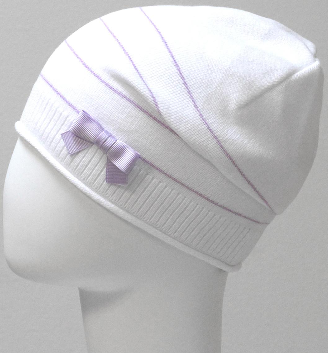 Шапка для девочки Marhatter, цвет: белый. MGH6525. Размер 52/54MGH6525Детская хлопковая ажурная шапка Marhatter для маленьких модниц, украшенная бантиком. Уважаемые клиенты!Размер, доступный для заказа, является обхватом головы.