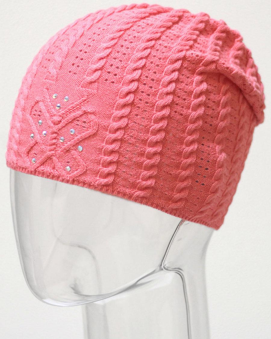 Шапка для девочки Marhatter, цвет: коралловый. MGH6480. Размер 50/52