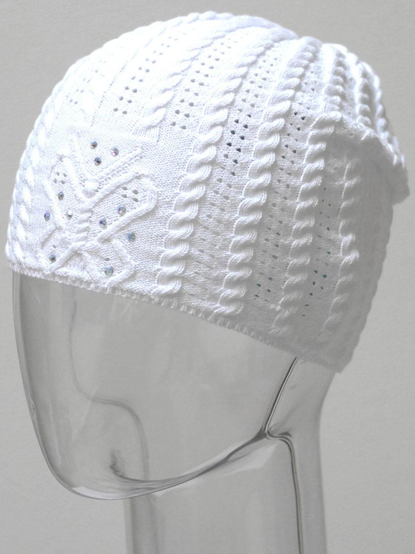 Шапка для девочки Marhatter, цвет: белый. MGH6480. Размер 50/52
