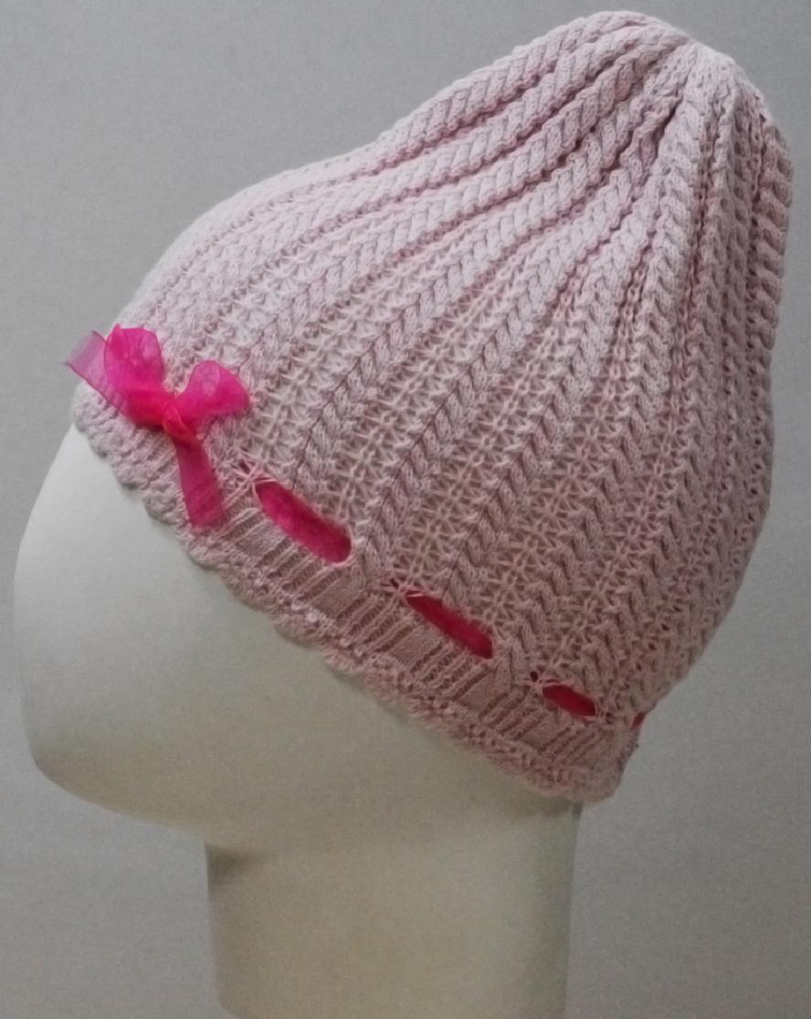 Шапка для девочки Marhatter, цвет: светло-розовый. MGH6416. Размер 50/52 шапка для девочки marhatter цвет светло розовый mdh7223 размер 40 42