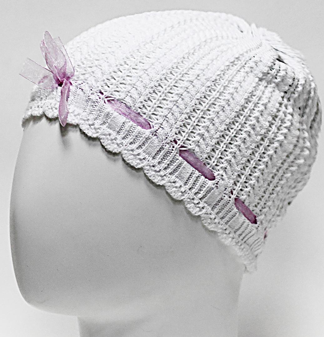Шапка для девочки Marhatter, цвет: белый. MGH6416. Размер 50/52MGH6416Легкая ажурная шапка Marhatter из хлопка. Подойдет маленькой принцессе в жаркую погоду. Уважаемые клиенты!Размер, доступный для заказа, является обхватом головы.