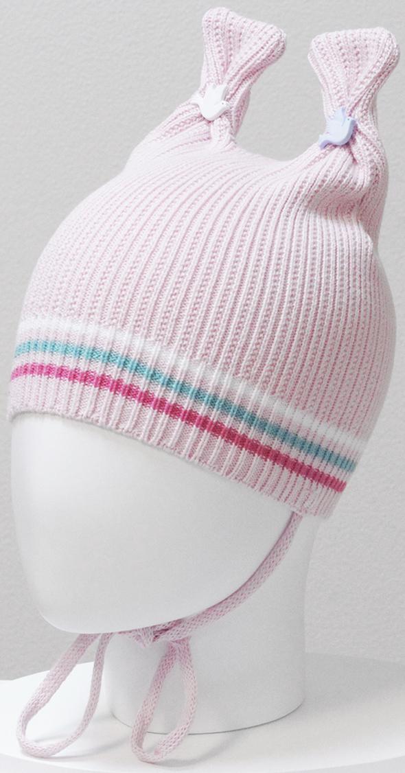 Шапка для девочки Marhatter, цвет: светло-розовый. MGH6414. Размер 50/52