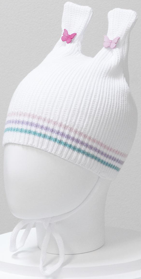 Шапка для девочки Marhatter, цвет: белый. MGH6414. Размер 50/52