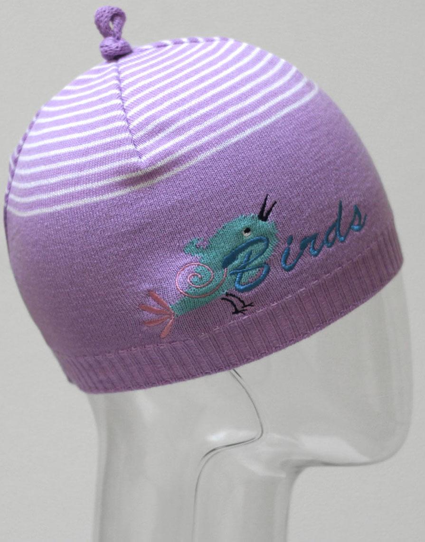 Шапка для девочки Marhatter, цвет: сиреневый. MGH6403. Размер 50/52MGH6403Детская хлопковая шапка Marhatter для маленьких модниц. Уважаемые клиенты!Размер, доступный для заказа, является обхватом головы.