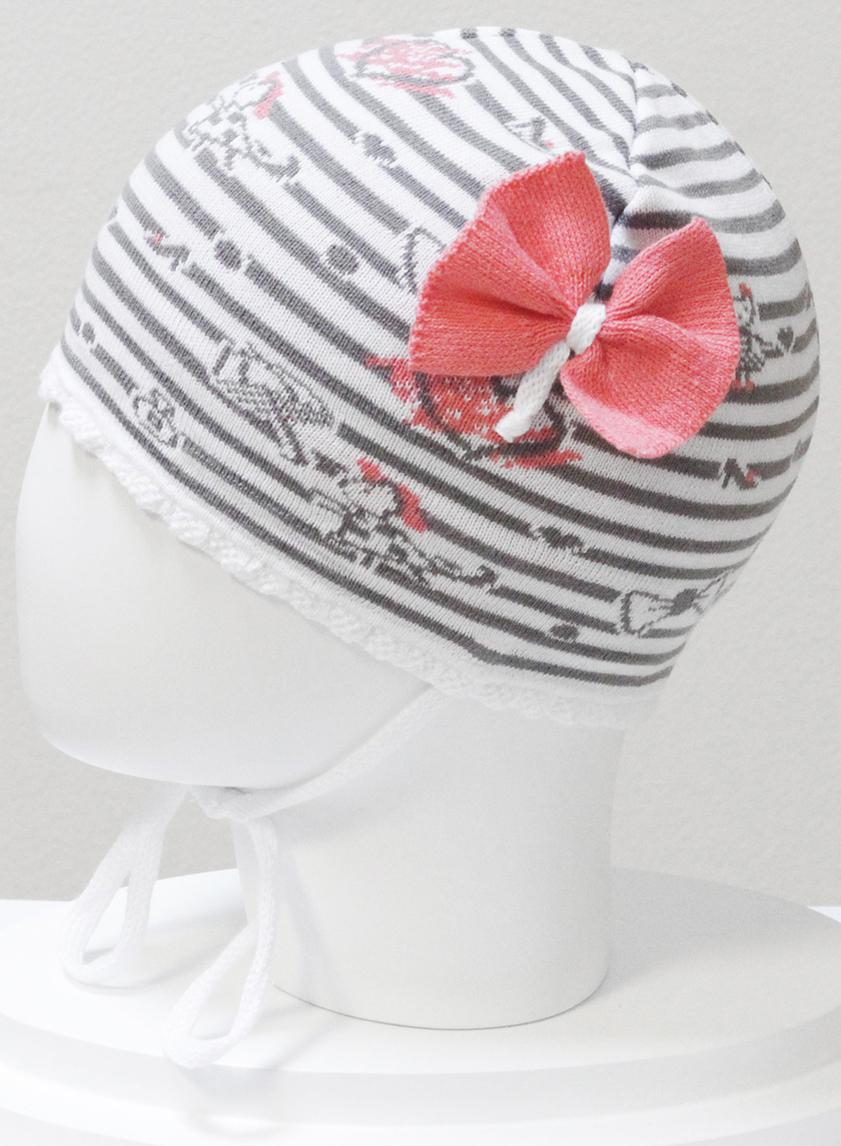 Шапка для девочки Marhatter, цвет: серый. MGH6400. Размер 50/52MGH6400Детская хлопковая шапка Marhatter для маленьких модниц с вывязанным декором, завязками и интересной цветовой расцветкой. Уважаемые клиенты!Размер, доступный для заказа, является обхватом головы.
