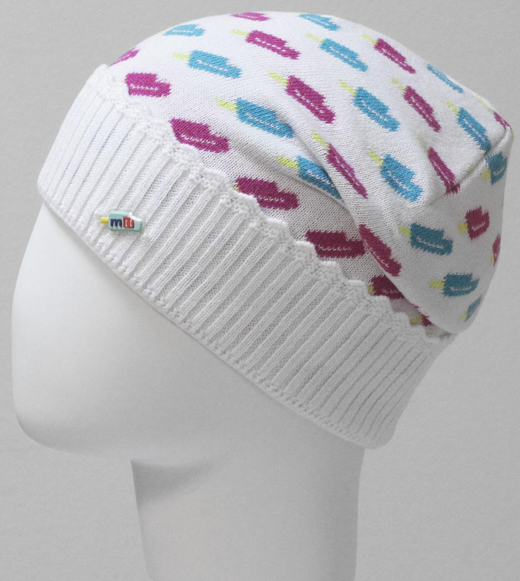 Шапка для девочки Marhatter, цвет: белый. MGH6399. Размер 50/52MGH6399Тонкая шапка Marhatter с отворотом выполнена из хлопка. Жаккардовый узор и маленькая нашивка в виде мороженного добавляют модели неординарности. Уважаемые клиенты!Размер, доступный для заказа, является обхватом головы.