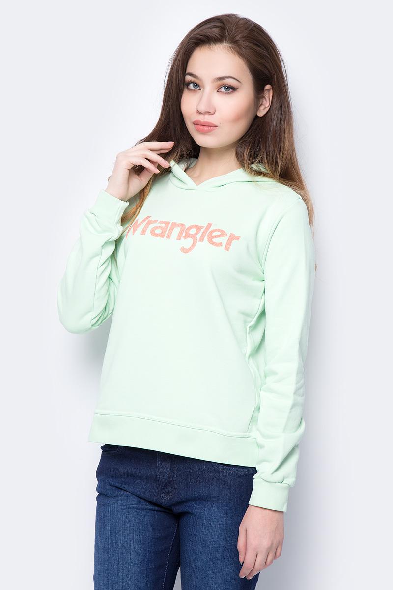 Толстовка женская Wrangler, цвет: фисташковый. W600RICUG. Размер XS (40)