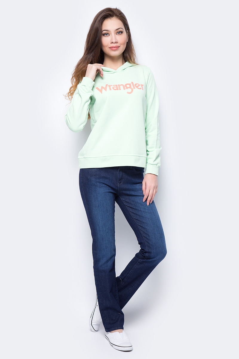 Джемпер женский Wrangler, цвет: зеленый. W600RICUG. Размер S (42)W600RICUG
