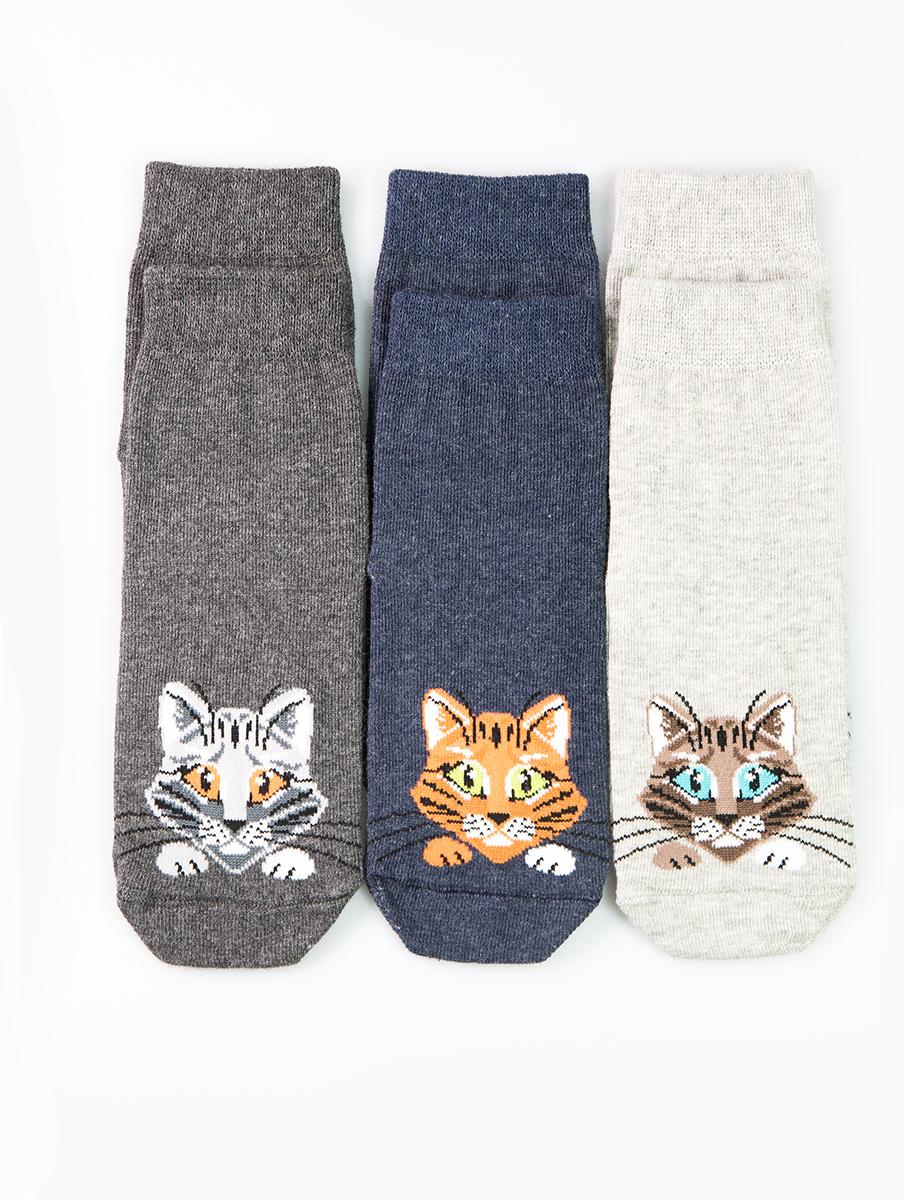 Носки детские Mark Formelle, цвет: серый, 3 пары. B3-6400A-585. Размер 25/27B3-6400A-585