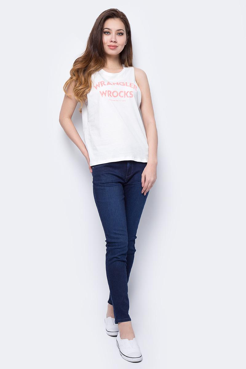 Топ женский Wrangler, цвет: белый. W701REV02. Размер M (44)W701REV02