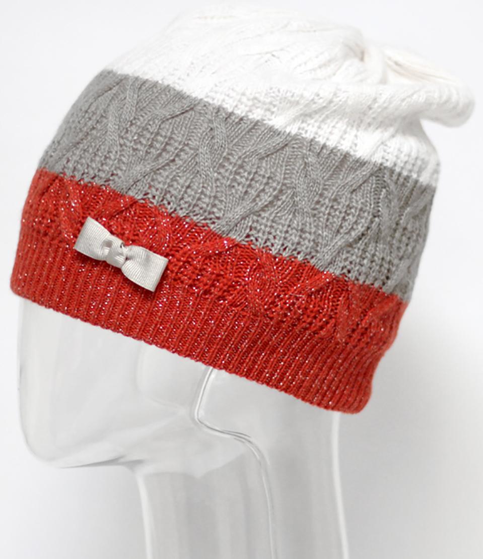 Шапка для девочки Marhatter, цвет: коралловый. MGH5661/6. Размер 52/54MGH5661/6Стильная шапка Marhatter, выполненная из пряжи с содержанием кашемира и шерсти мериноса, украшена бантом. Отлично подходит для активных и жизнерадостных девочек. Уважаемые клиенты!Размер, доступный для заказа, является обхватом головы.