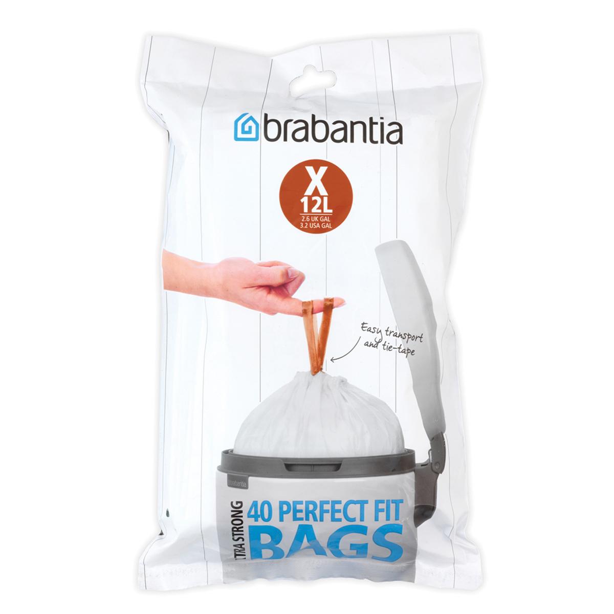 Мешки для мусора Brabantia  X , цвет: белый, 10-12 л, 40 шт -  Инвентарь для уборки