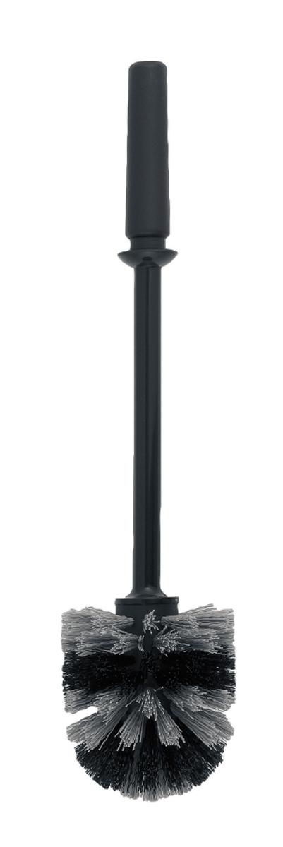 Ершик для туалета Brabantia, сменный, цвет: черный. 201240201240Устойчивость к коррозии – идеальное решение для ванной или туалетной комнаты.Ершик эстетично спрятан в подставке. Прост в очистке.Изготовленная из пластика щетка легко чистится и имеет длительный срок службы. Превосходно сочетается держателем для туалетной бумаги, мусорными баками и другими изделиями Brabantia.