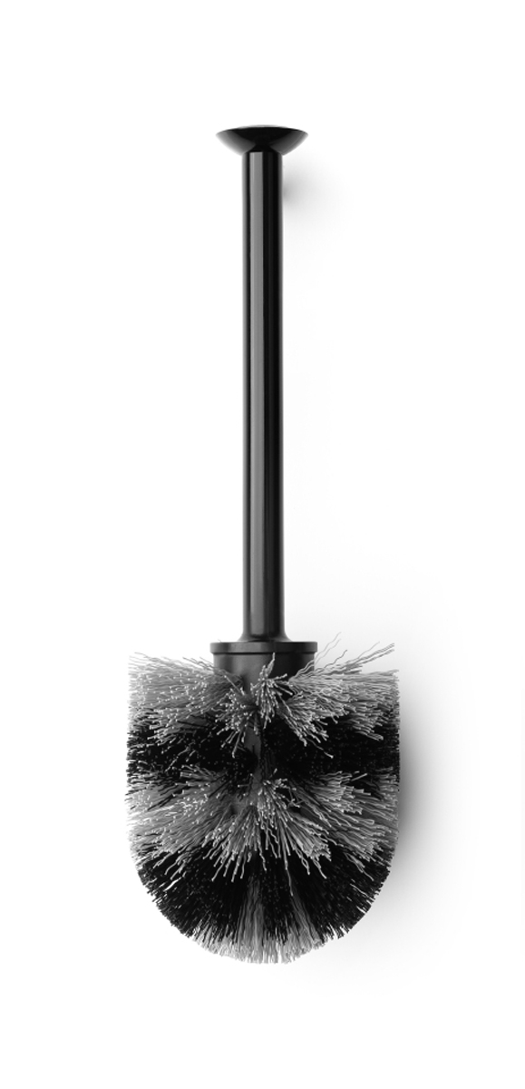 Ершик для туалета Brabantia, сменный, цвет: черный. 481161481161Устойчивость к коррозии – идеальное решение для ванной или туалетной комнаты.Прост в очистке.Изготовленная из пластика щетка легко чистится и имеет длительный срок службы. Превосходно сочетается с держателем для туалетной бумаги, мусорными баками и другими изделиями Brabantia.
