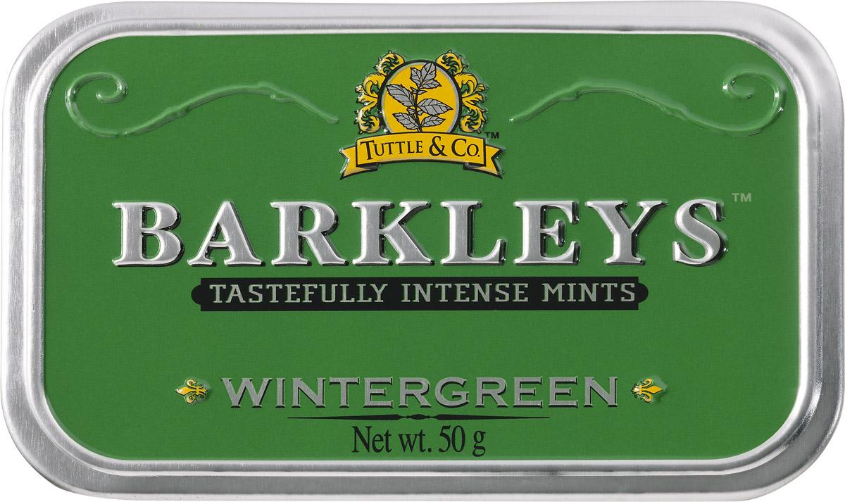 Barkleys Wintergreen леденцы зимняя свежесть, 50 г