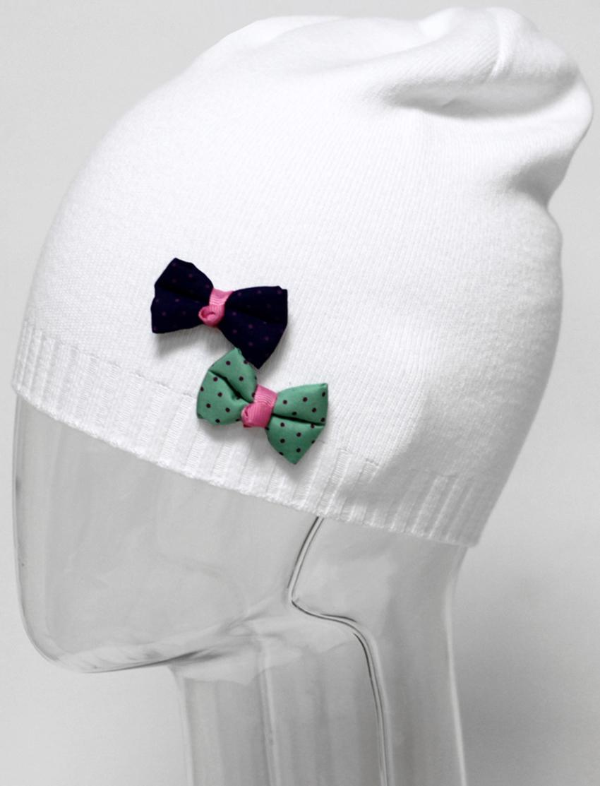 Шапка для девочки Marhatter, цвет: белый. MGH5391. Размер 52/54MGH5391Хлопковая шапка Marhatter удлиненной формы для девочки. Модель украшена объёмными бантиками разных цветов. Уважаемые клиенты!Размер, доступный для заказа, является обхватом головы.