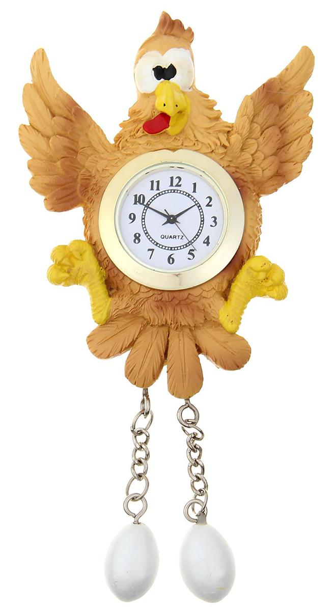 Часы настенные с магнитом Кукушка, 8,5 х 10,5 см1016411Часы-магнит — вещь, что быт озарит! В современном мире часы — это многофункциональный предмет. Они не только помогают следить за временем, но и создают уют в доме. Удивите близких необычным подарком — часами на магните. Яркий, стильный и оригинальный аксессуар поднимет настроение владельцу и окружающим! Украсьте ими холодильник или другую металлическую поверхность. Часы смогут удержать записку или напоминание, чтобы адресат не забыл о важном деле или порадовался неожиданному комплименту.Часы настенные с магнитом Кукушка, 8,5 х 10,5 см 1016411