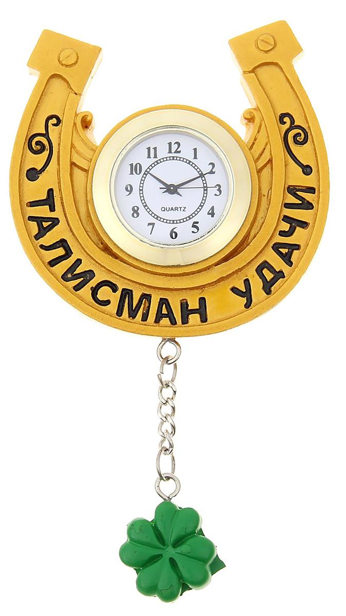 Часы настенные с магнитом Талисман удачи, 8 х 7,7 см1016416Часы-магнит — вещь, что быт озарит! В современном мире часы — это многофункциональный предмет. Они не только помогают следить за временем, но и создают уют в доме. Удивите близких необычным подарком — часами на магните. Яркий, стильный и оригинальный аксессуар поднимет настроение владельцу и окружающим! Украсьте ими холодильник или другую металлическую поверхность. Часы смогут удержать записку или напоминание, чтобы адресат не забыл о важном деле или порадовался неожиданному комплименту.Часы настенные с магнитом Талисман удачи, 8 х 7,7 см 1016416