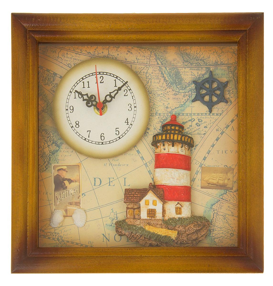 Часы настенные Маяк, 25 х 25 см1030983Каждому хозяину периодически приходит мысль обновить свою квартиру, сделать ремонт, перестановку или кардинально поменять внешний вид каждой комнаты. Часы настенные Маяк и морская карта — привлекательная деталь, которая поможет воплотить вашу интерьерную идею, создать неповторимую атмосферу в вашем доме. Окружите себя приятными мелочами, пусть они радуют глаз и дарят гармонию.часы настенные Маяк.Картина 25*25см 1030983