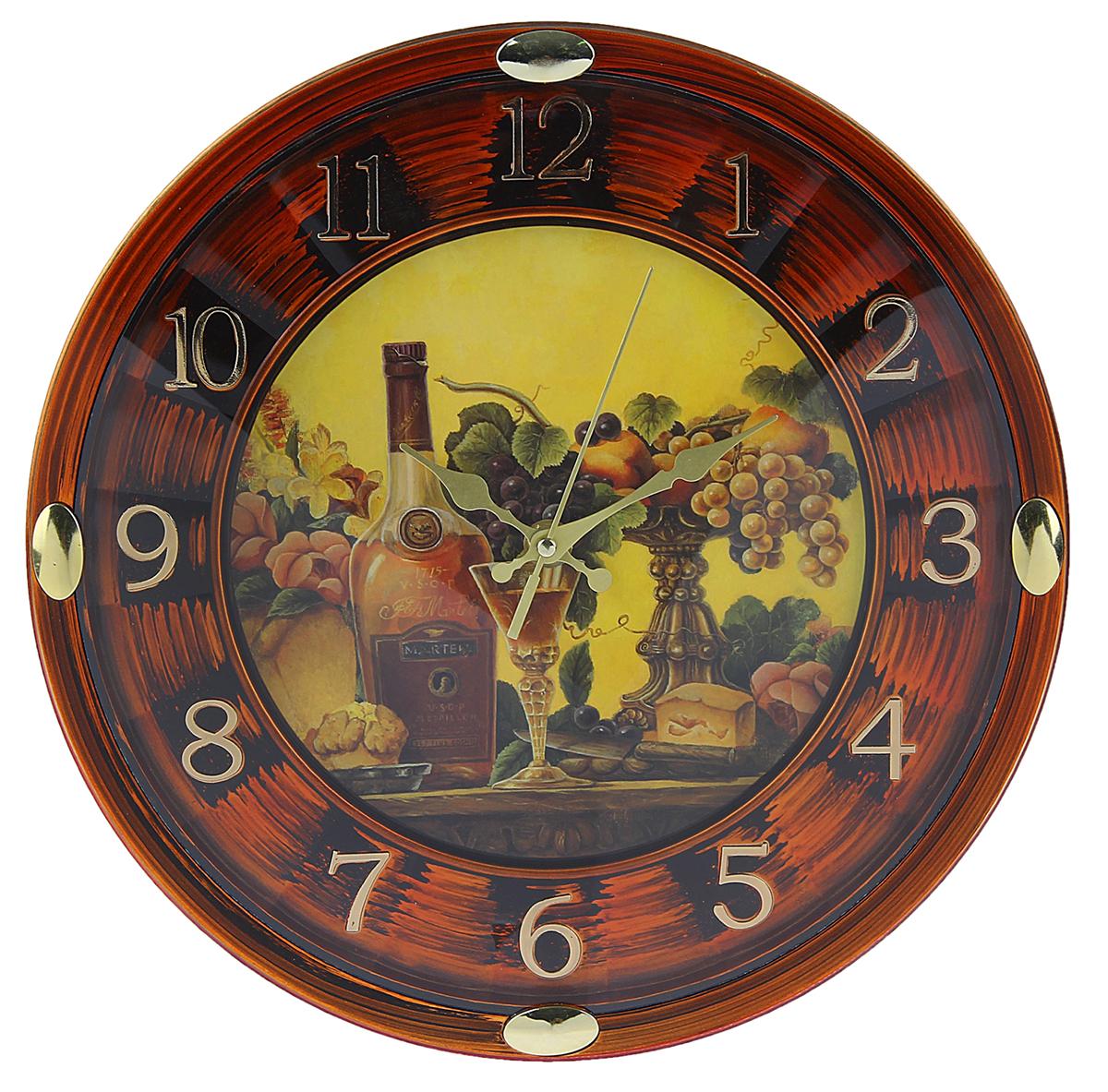 Часы настенные Натюрморт, диаметр 29,5 см