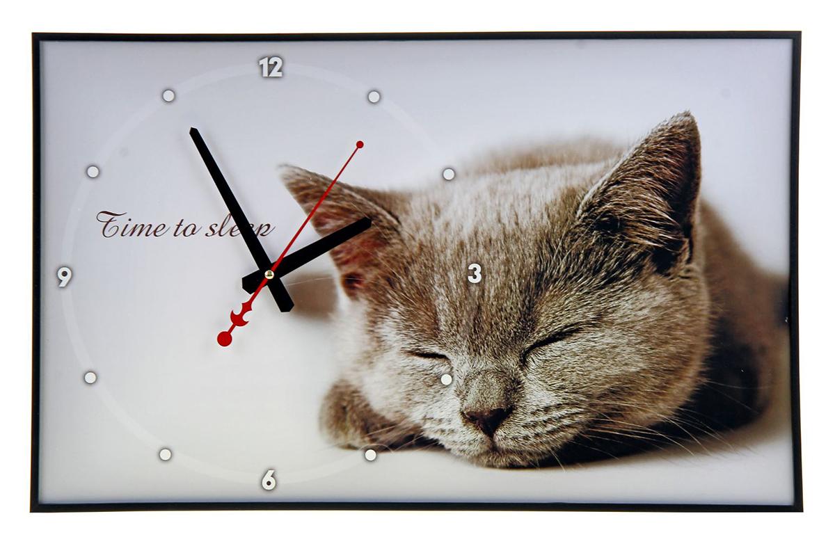 Часы настенные на холсте Серая кошка, 37 х 60 см хочу продать свою квартиру которая менее 3х лет и другую какие налоги надо заплатить