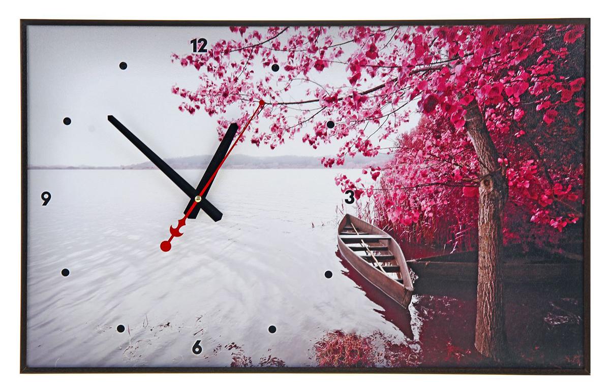 Часы настенные на холсте TimeBox Лодка. Фиолетовое дерево, 37 х 60 см хочу продать свою квартиру которая менее 3х лет и другую какие налоги надо заплатить