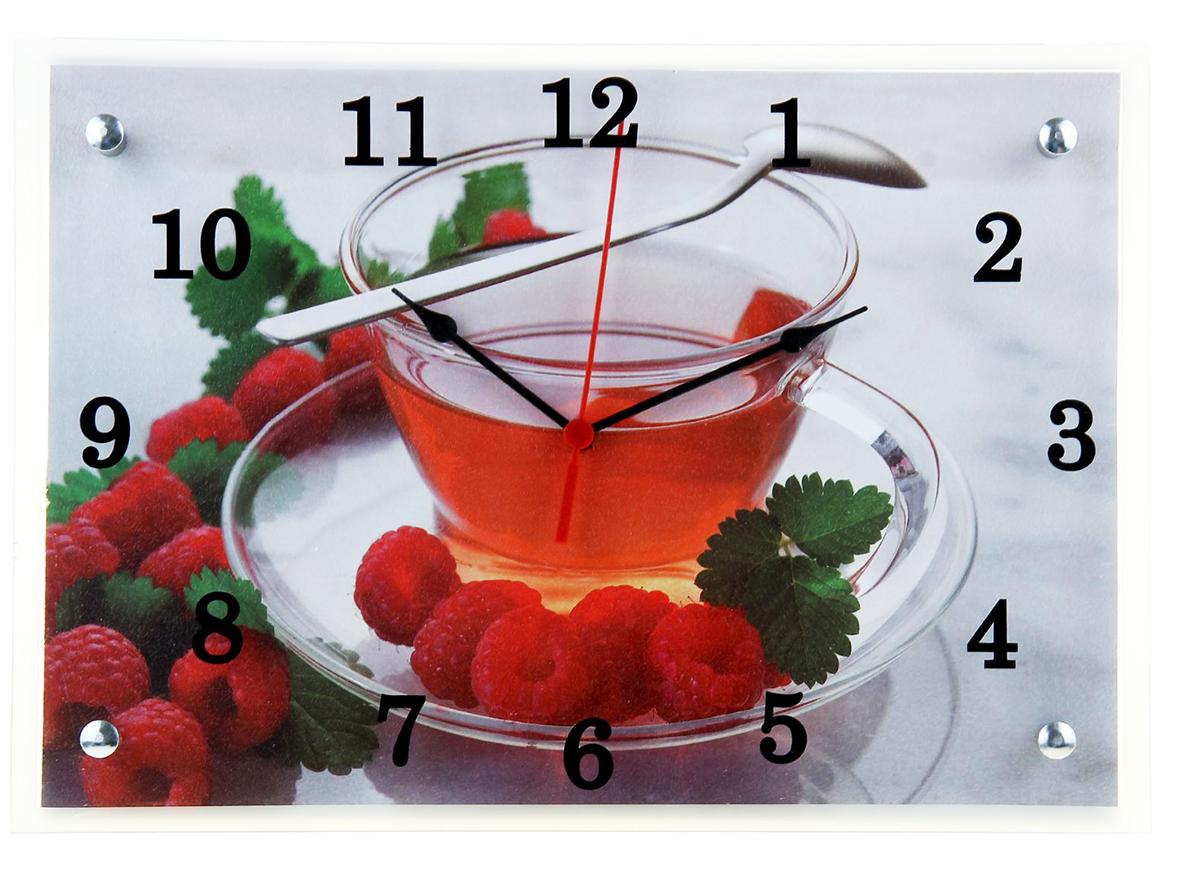 Часы настенные прямоугольные Сюжет Чай с малиной, 25 х 35 см1155162Каждому хозяину периодически приходит мысль обновить свою квартиру, сделать ремонт, перестановку или кардинально поменять внешний вид каждой комнаты. — привлекательная деталь, которая поможет воплотить вашу интерьерную идею, создать неповторимую атмосферу в вашем доме. Окружите себя приятными мелочами, пусть они радуют глаз и дарят гармонию.— сувенир в полном смысле этого слова. И главная его задача — хранить воспоминание о месте, где вы побывали, или о том человеке, который подарил данный предмет. Преподнесите эту вещь своему другу, и она станет достойным украшением его дома.Часы настенные прямоугольные Чай с малиной, 25х35 см 1155162