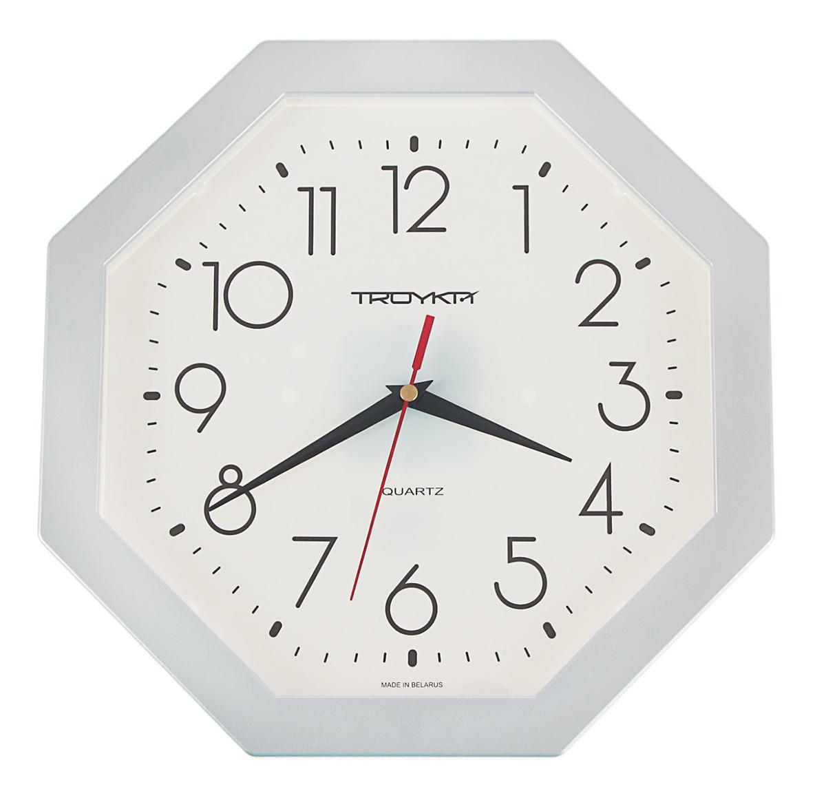 Часы настенные Тройка Серебряная классика1180157Каждому хозяину периодически приходит мысль обновить свою квартиру, сделать ремонт, перестановку или кардинально поменять внешний вид каждой комнаты. Часы настенные Восемь граней, серебристые — привлекательная деталь, которая поможет воплотить вашу интерьерную идею, создать неповторимую атмосферу в вашем доме. Окружите себя приятными мелочами, пусть они радуют глаз и дарят гармонию. Часы настенные Восемь граней, серебристые — сувенир в полном смысле этого слова. И главная его задача — хранить воспоминание о месте, где вы побывали, или о том человеке, который подарил данный предмет. Преподнесите эту вещь своему другу, и она станет достойным украшением его дома.Часы настенные восьмигранные Серебряная классика, серебристое кольцо 1180157